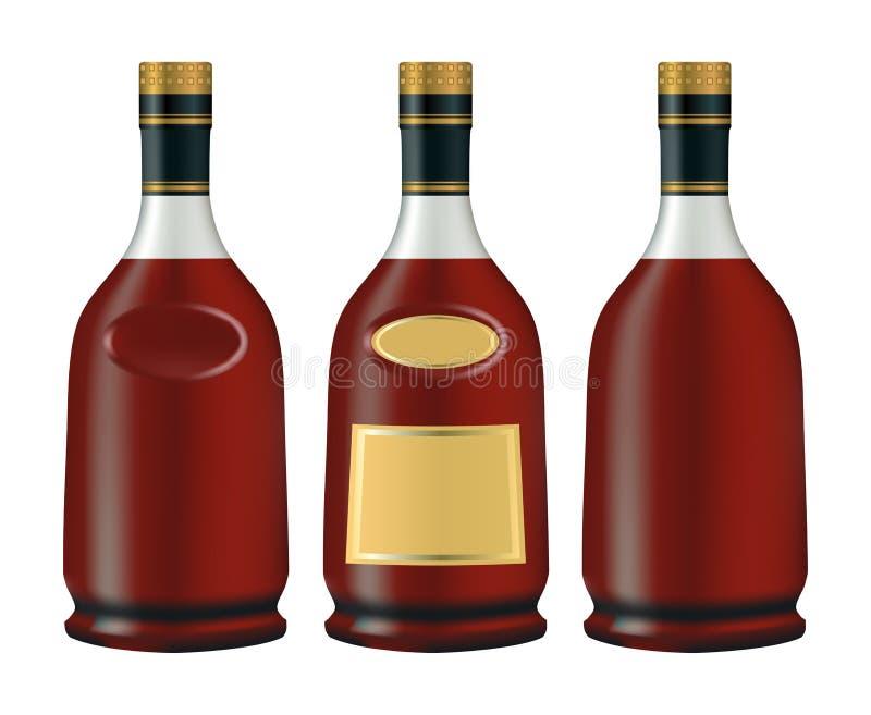 Botellas de coñac (brandy) libre illustration