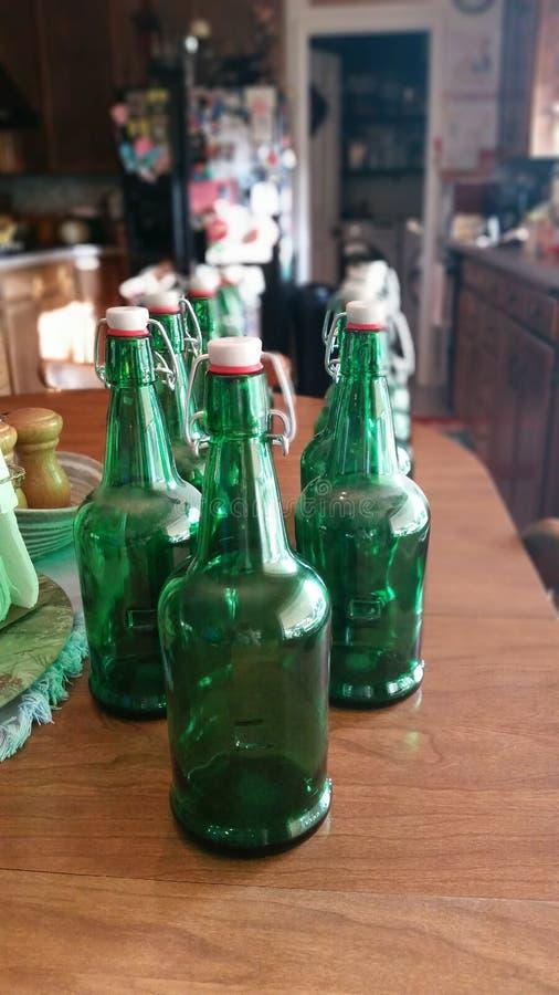 Botellas de cristal imagen de archivo