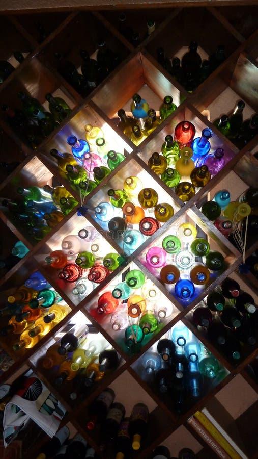Botellas de cristal bonitas fotografía de archivo