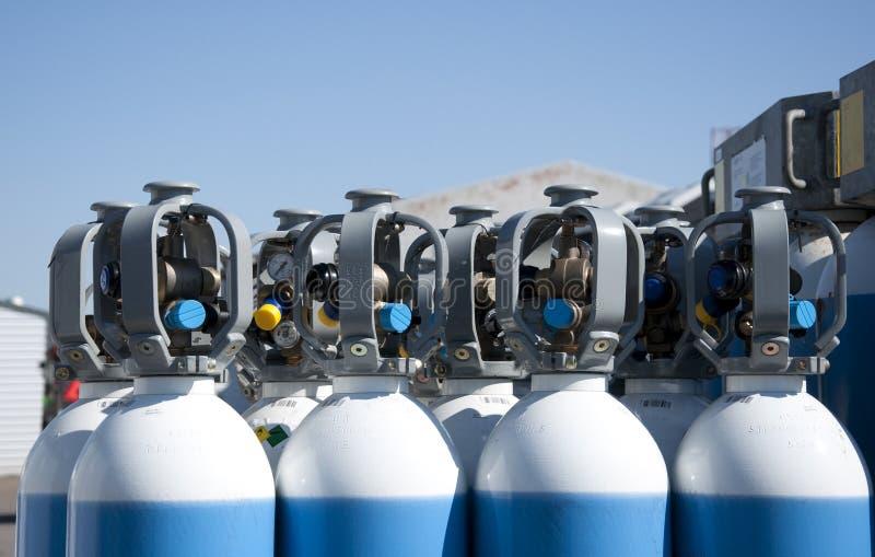 Botellas de gas fotos de archivo