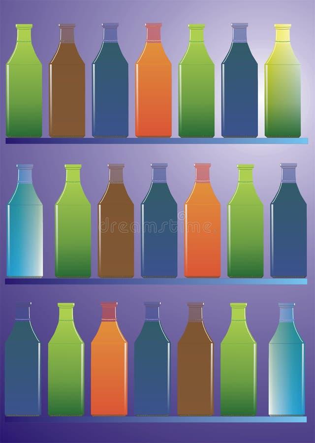 Botellas de la colección libre illustration