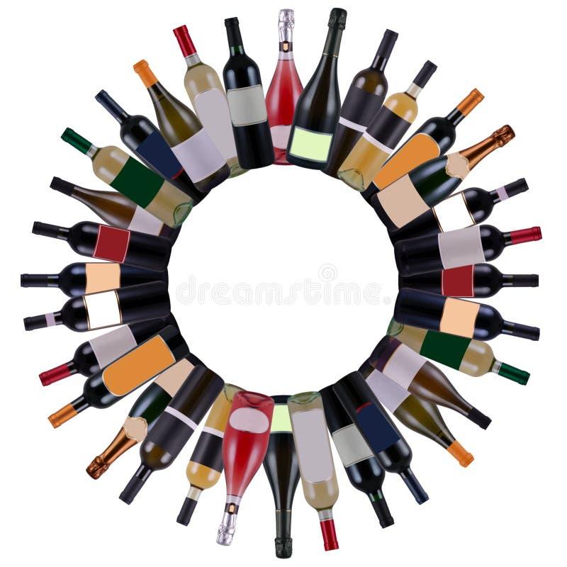 Botellas de vino stock de ilustración