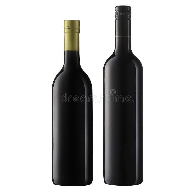 Botellas de vino fotografía de archivo
