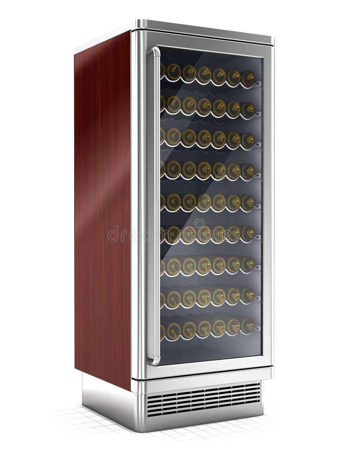 Botellas de vino refrigeradas dentro libre illustration