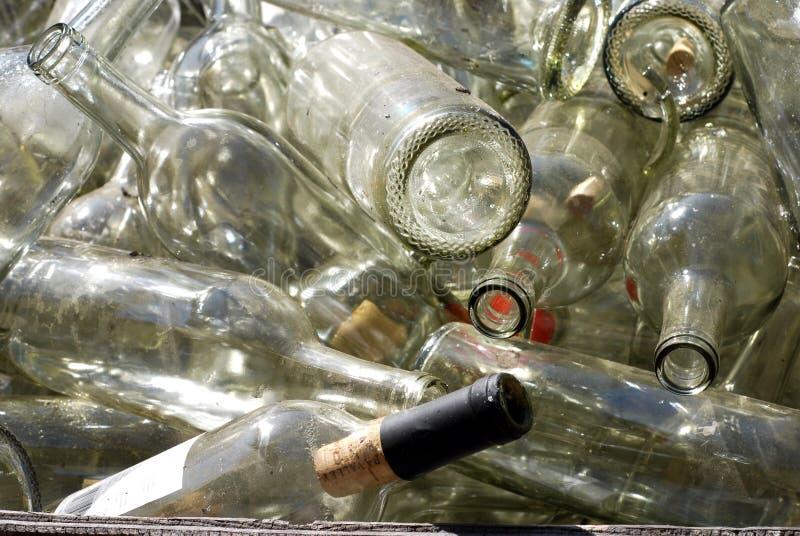 Botellas de vino viejas imagen de archivo libre de regalías