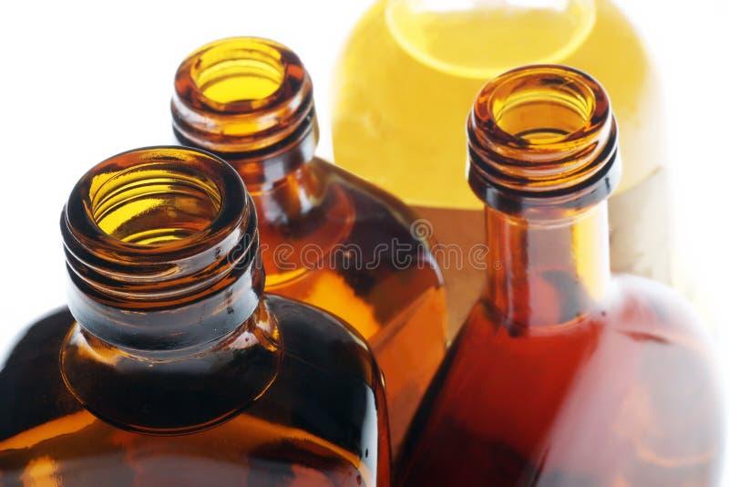 Botellas de whisky fotos de archivo libres de regalías