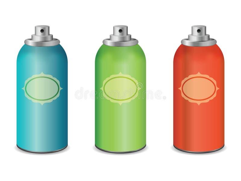 Botellas del espray libre illustration