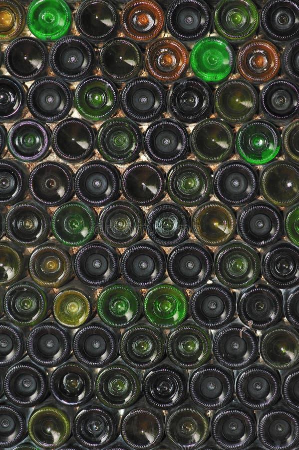 Botellas del fondo fotos de archivo