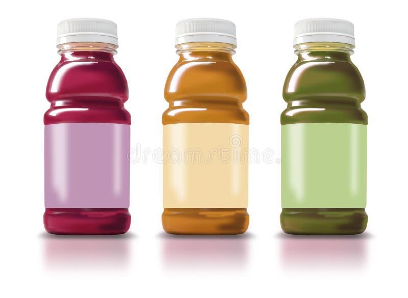 Botellas del Smoothie ilustración del vector