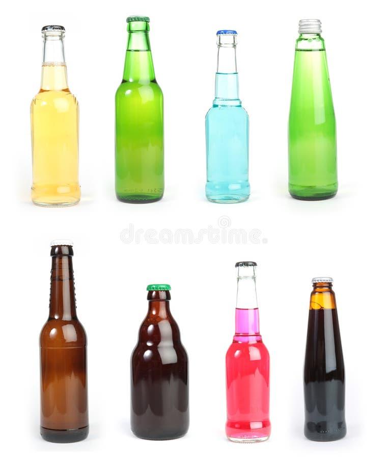 Botellas mezcladas imagen de archivo libre de regalías