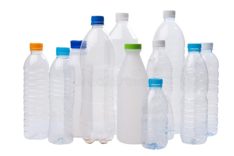 Botellas plásticas imagen de archivo