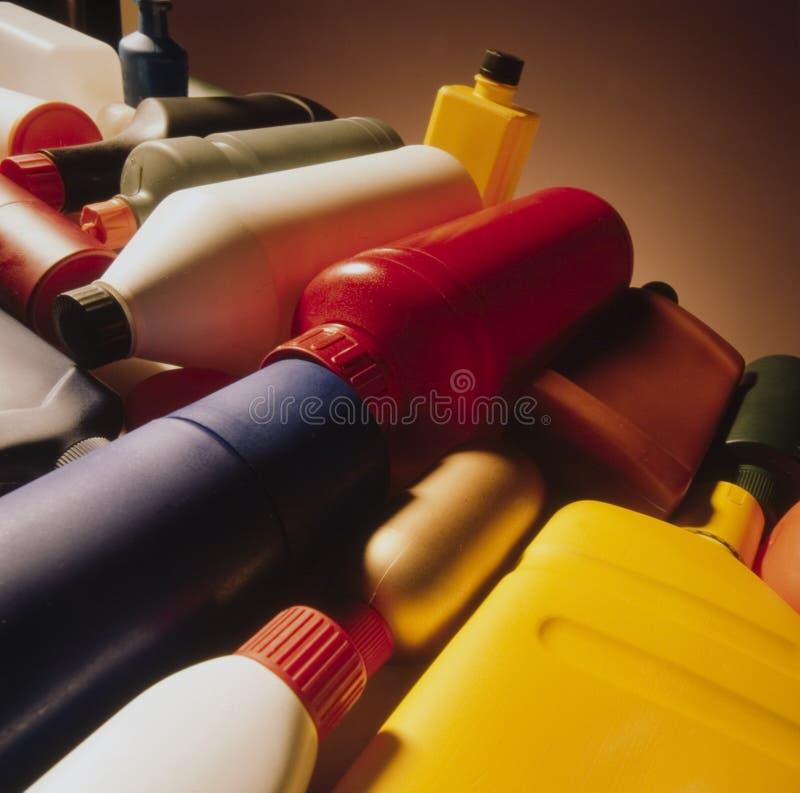 Botellas plásticas imagen de archivo libre de regalías