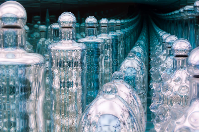 Botellas sin fin foto de archivo libre de regalías