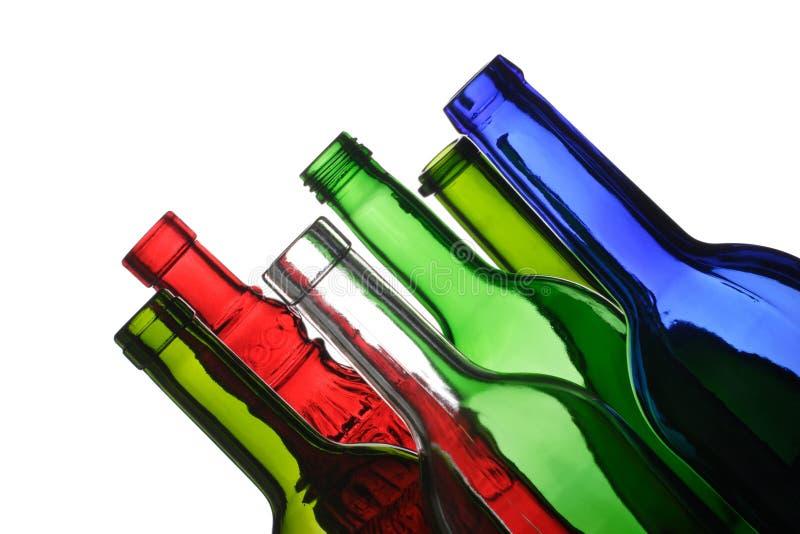 Botellas vacías foto de archivo libre de regalías