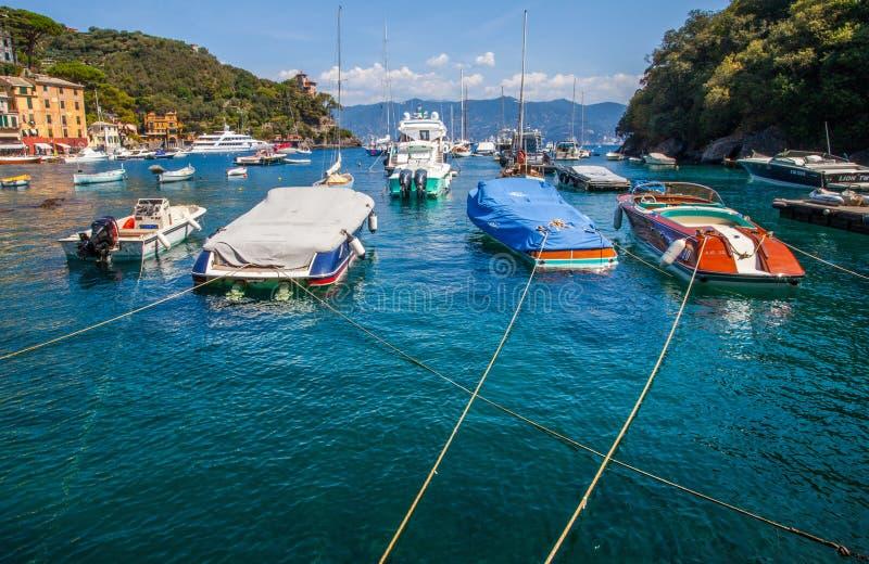 Boten bij haven Portofino royalty-vrije stock fotografie