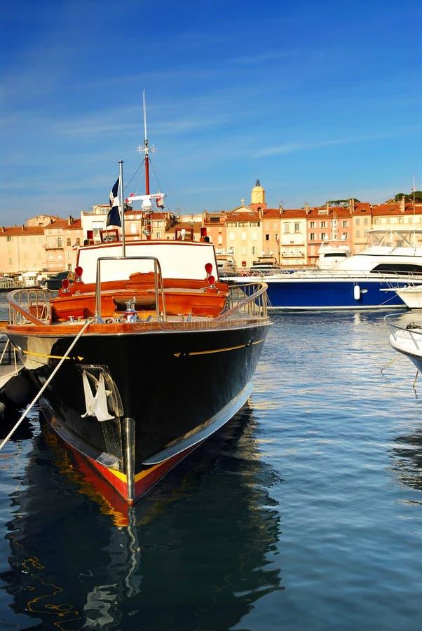 Boten bij St.Tropez stock fotografie