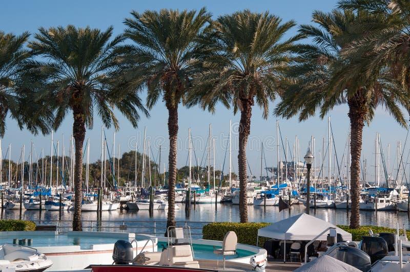 Boten in de Jachthaven van Florida royalty-vrije stock fotografie