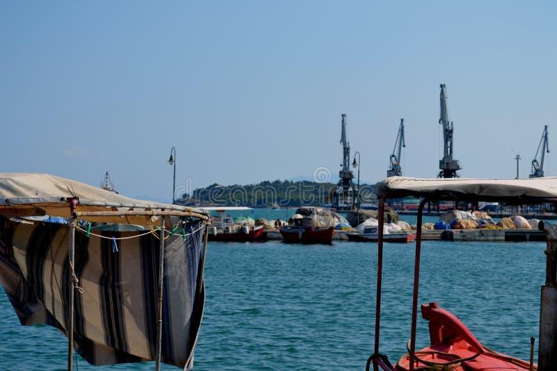 Boten in Griekenland royalty-vrije stock foto