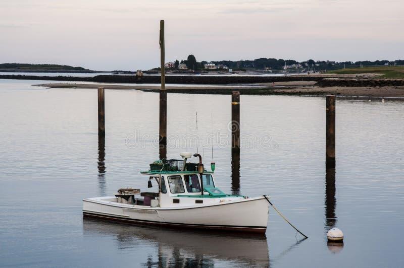 De boten van Maine stock afbeeldingen