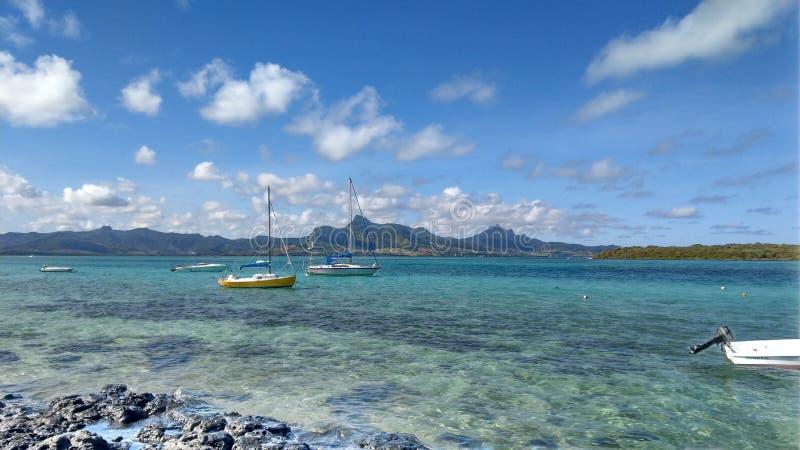 Boten op Mauritius royalty-vrije stock afbeelding