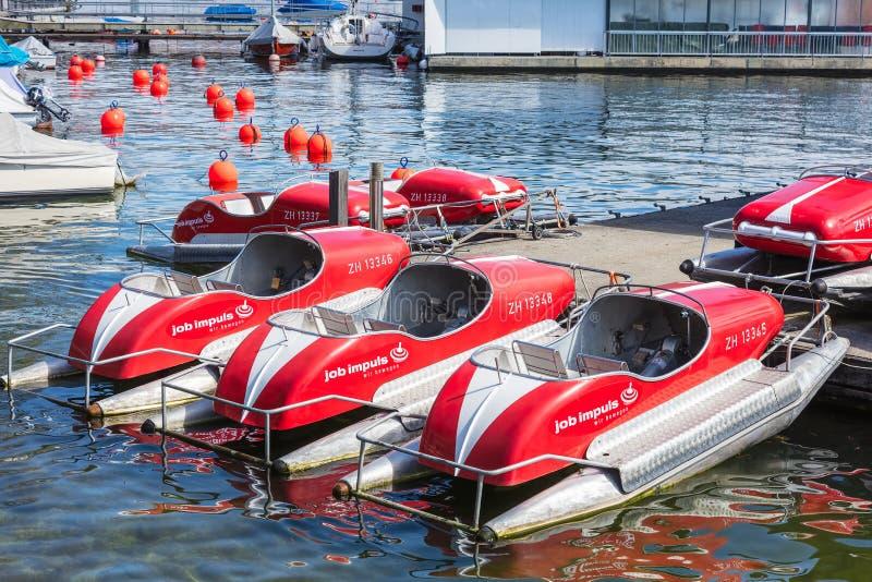 Boten op Meer Zürich royalty-vrije stock foto's