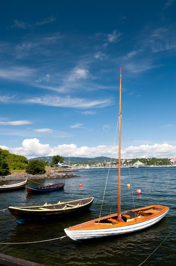 Boten in Oslo royalty-vrije stock afbeelding