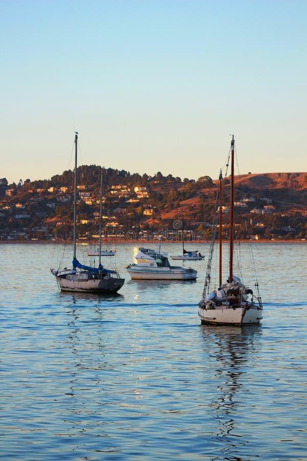Boten in Sausalito, CA royalty-vrije stock foto