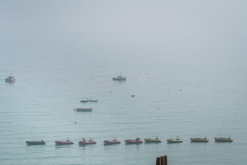 Boten in St Ives baai royalty-vrije stock afbeelding