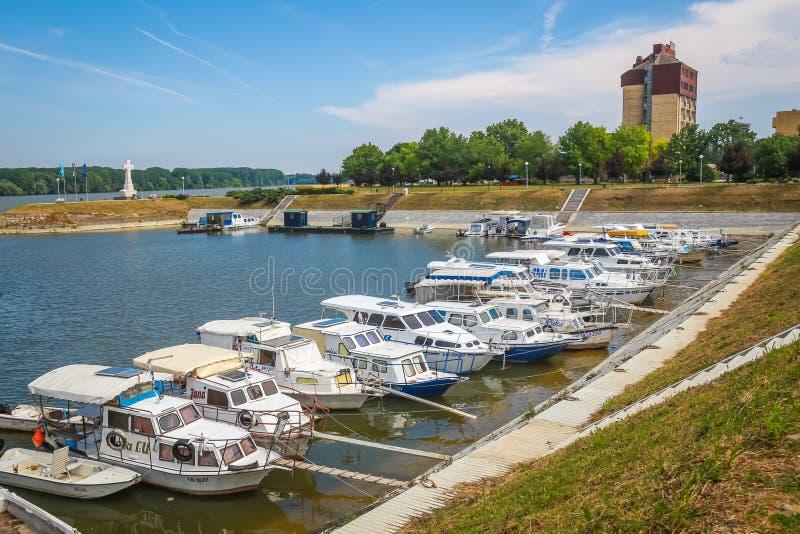Boten in Vukovar worden vastgelegd die royalty-vrije stock afbeeldingen