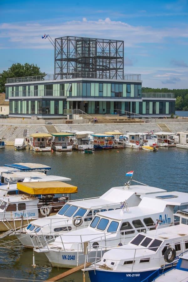 Boten in Vukovar worden vastgelegd die royalty-vrije stock foto's