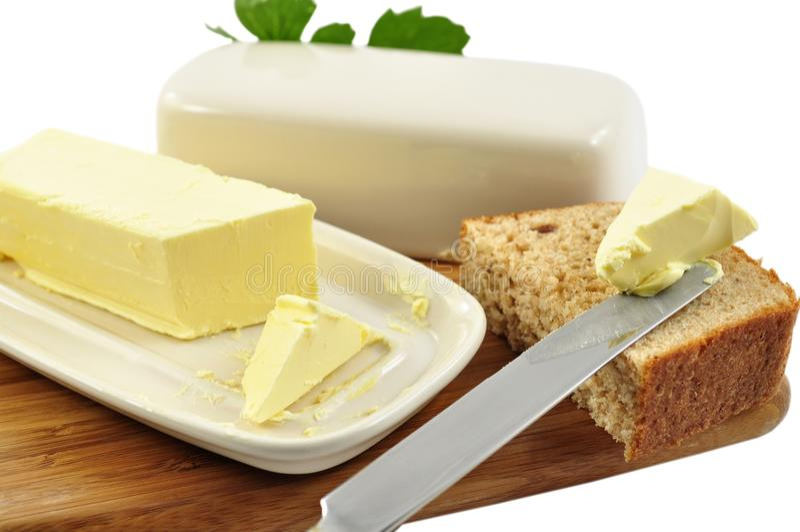 Boter en brood stock foto's