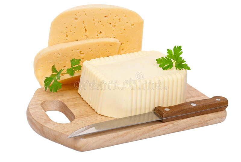 Boter en kaas royalty-vrije stock foto's