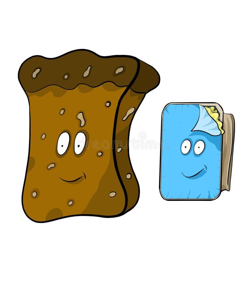 boterham en een kruik boter vector illustratie