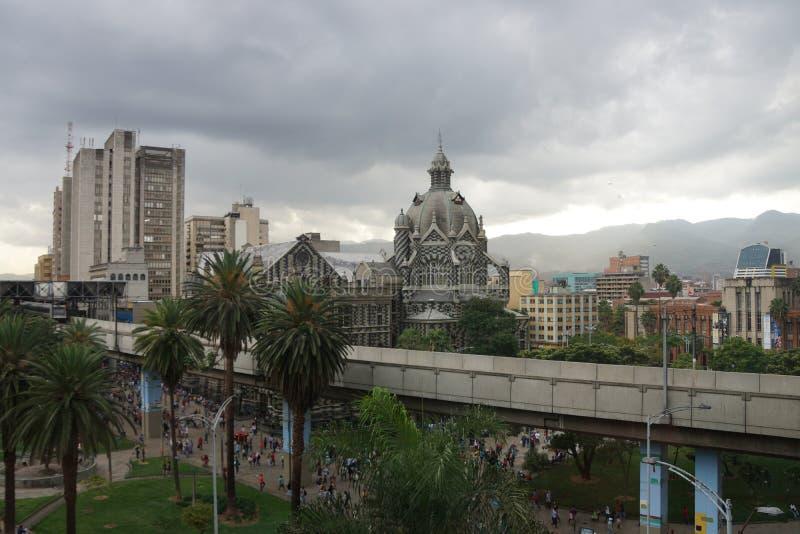 Botero广场在麦德林哥伦比亚 免版税图库摄影