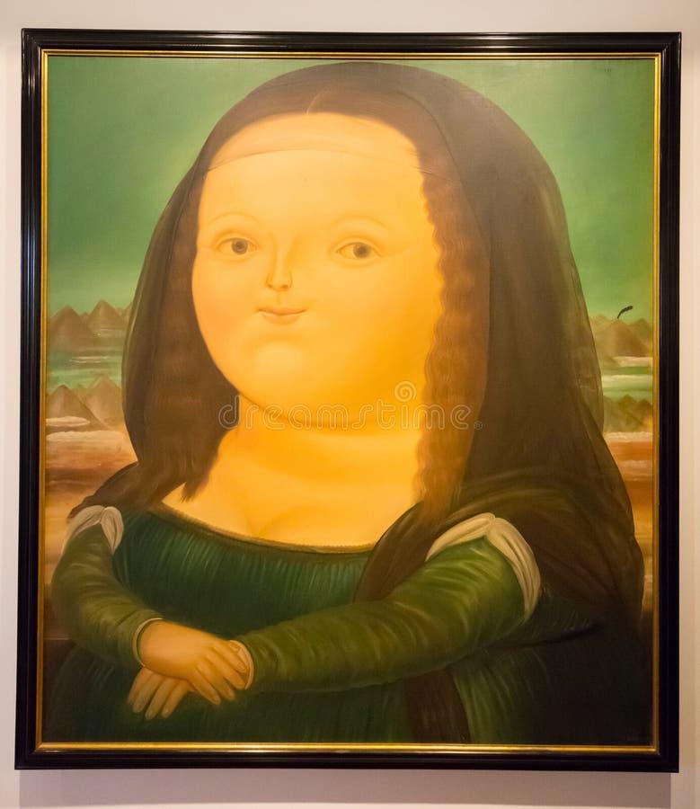 Botero muzealny obrazek Botero tytułował Monalisa fotografia royalty free