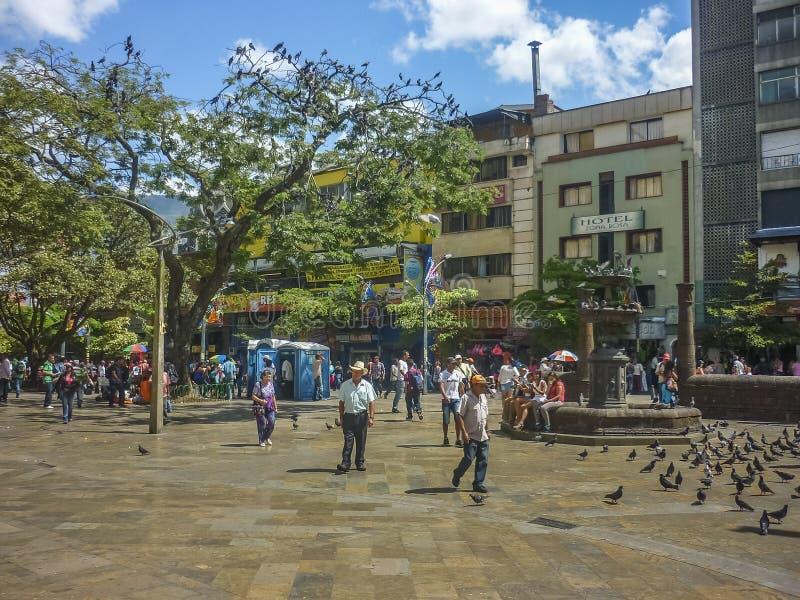 Boterovierkant in Medellin Colombia royalty-vrije stock foto's
