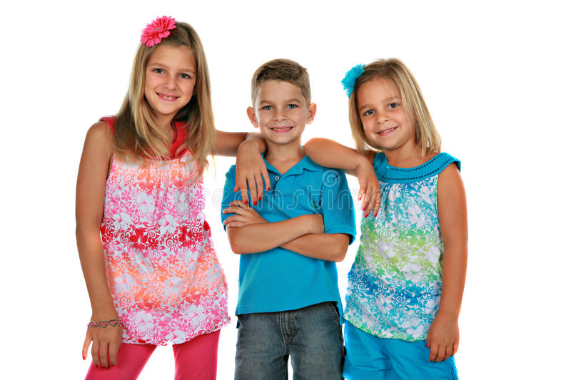 Download Bother And Sisters Portrait Isolated Stock Image - Image of cute, friend: 10670063
