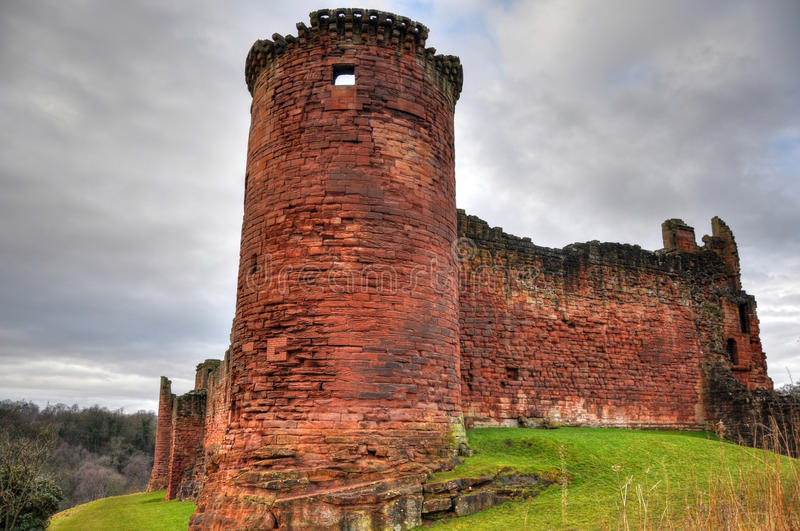 Bothwell Castle HDR stock images
