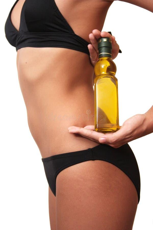 botlle藏品油橄榄妇女 库存照片