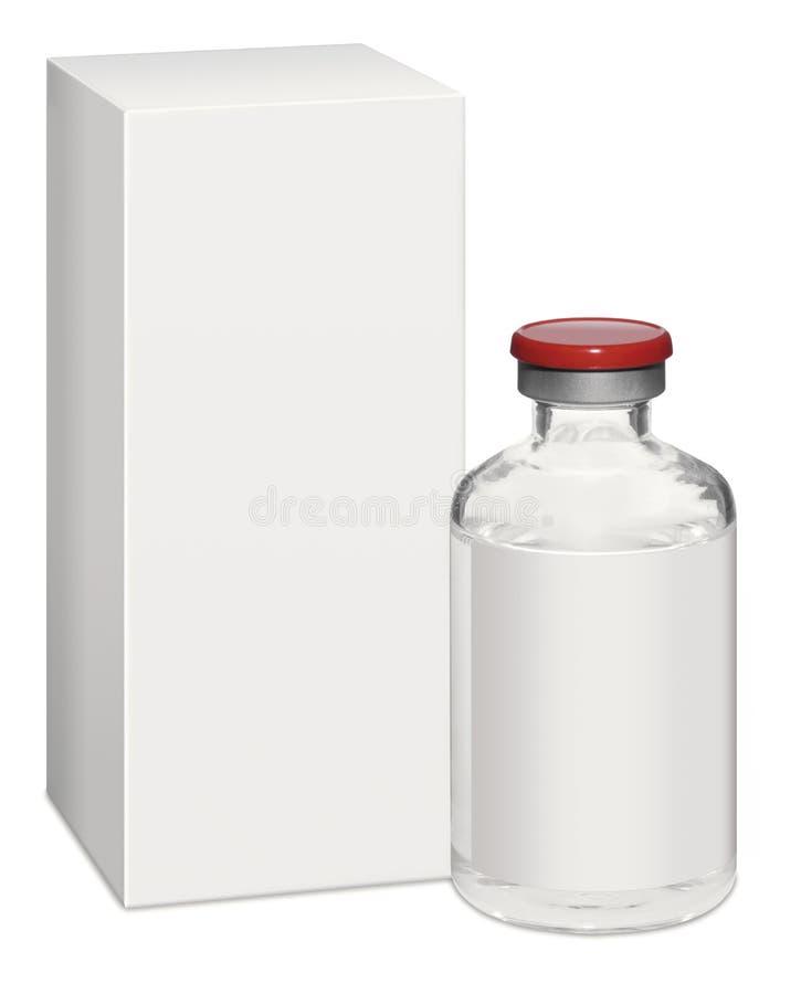 Botlle de la medicación libre illustration