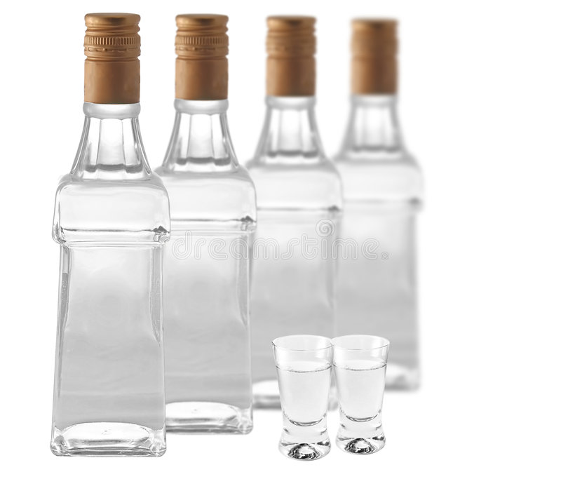 Botlles des Wodkas lizenzfreies stockbild