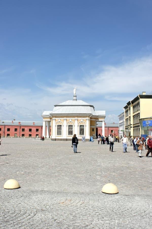 Botnia huis in de Peter en van Paul vesting Heilige Petersburg stock foto's