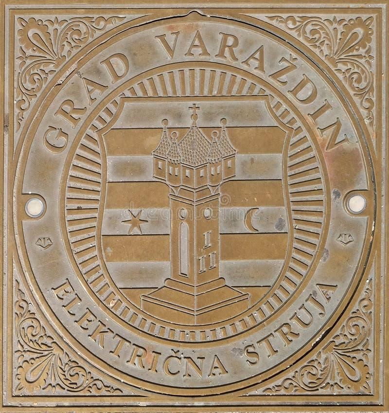 Botola sul quadrato principale in Varazdin, Croazia fotografia stock libera da diritti