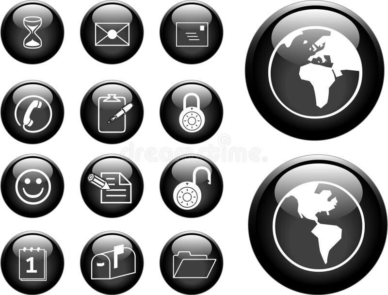 Download Botones stock de ilustración. Ilustración de cara, directorio - 1286077