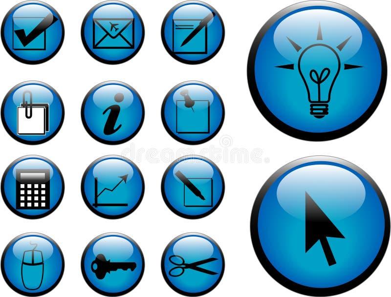 Download Botones stock de ilustración. Ilustración de negro, cuentas - 1286094