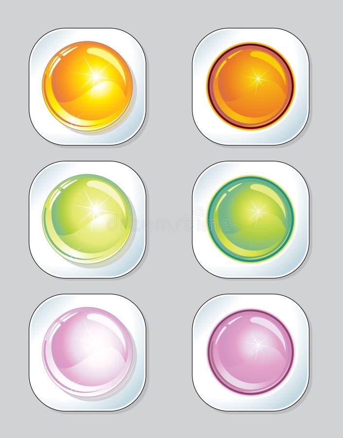 Botones stock de ilustración