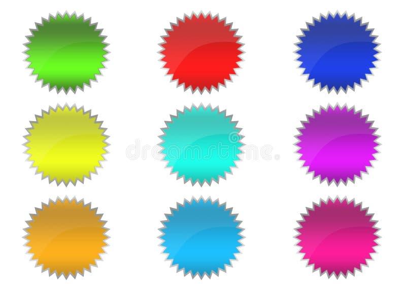 botones 3D imagen de archivo libre de regalías