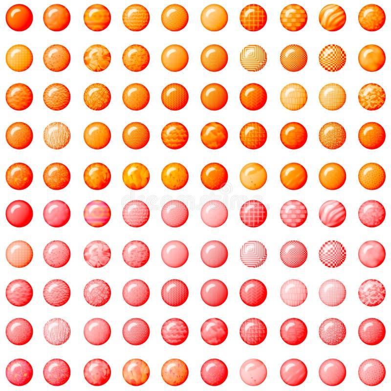 Botones anaranjados y rosados foto de archivo
