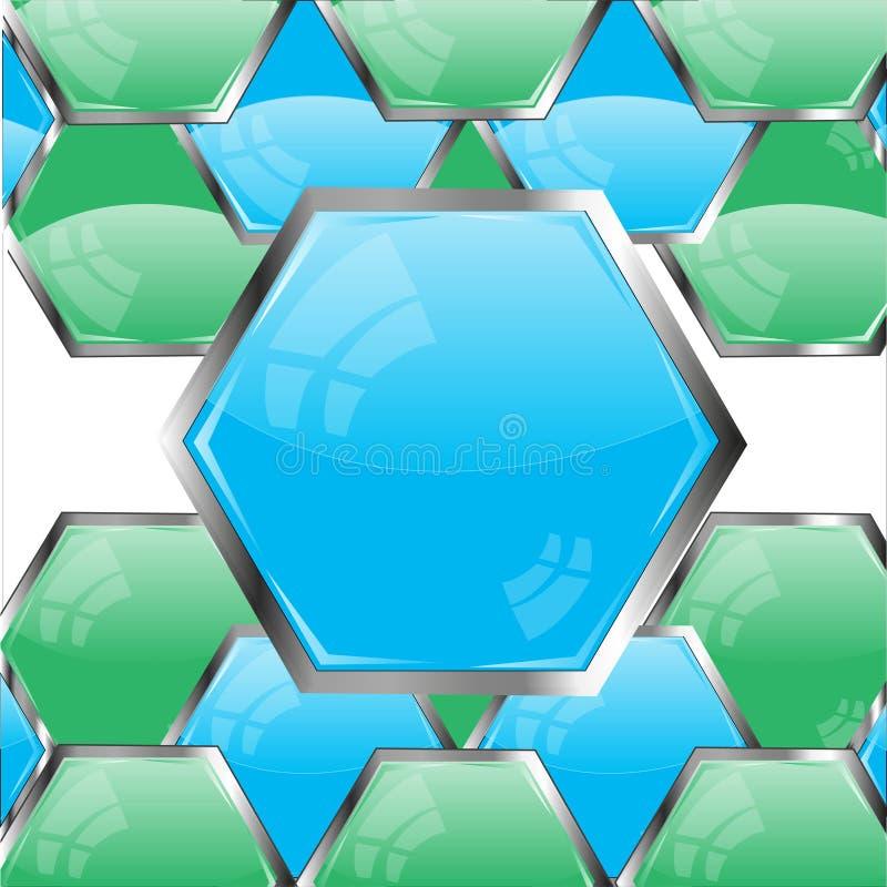Botones azules y color verde libre illustration