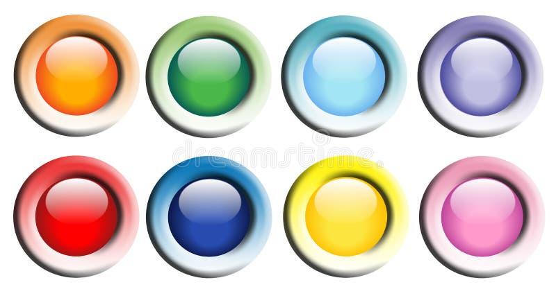 Botones brillantes coloridos del Web stock de ilustración